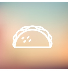 Taco thin line icon vector image
