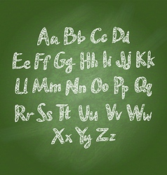 chalk sketched characters blackboard background vector image