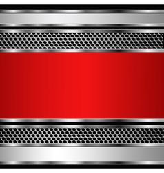 Metallic business background vector image vector image