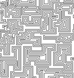 Seamless pattern with broken lines vector image vector image