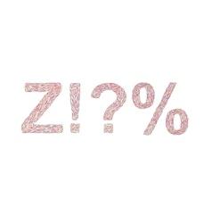 Varicolored symbols Z vector image vector image