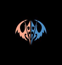 wings logo vector image vector image
