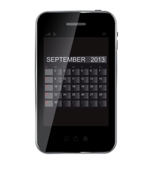 2013 year calendar on abstract design phone vector image