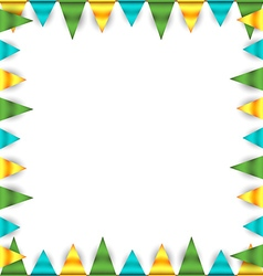Bunting garland frame vector image vector image