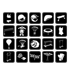 Set of Sport Accessory Icons on White Background vector image vector image