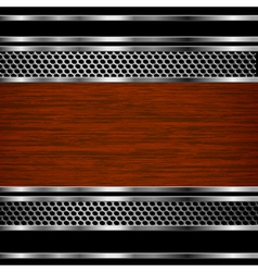 Steel and wood background vector image