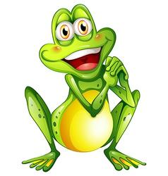 A cheerful green frog vector
