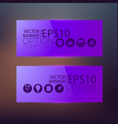 abstract business web horizontal banners vector image