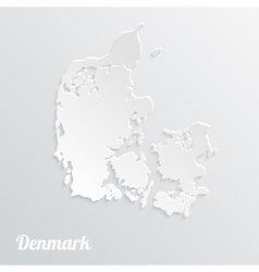 Abstract icon map of Denmark on a gray background vector
