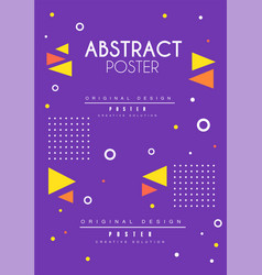 abstract poster original design blue bright vector image