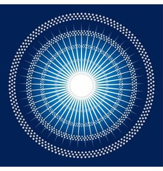 Abstract rays Circles mosaic blue Backgroun vector