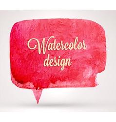 abstract watercolor speech bubble design vector image