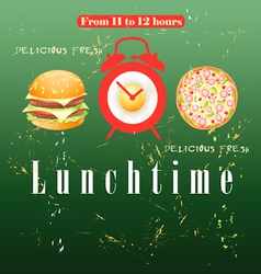 Advertise lunch vector image