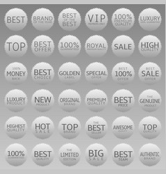 advertising promotional labels vector image