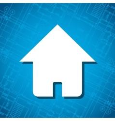 Blueprint home icon vector