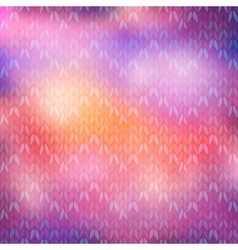 Bokeh winter knitted background vector