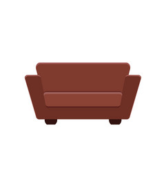 brown couch vector image