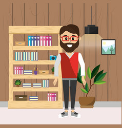 business man worker at office vector image