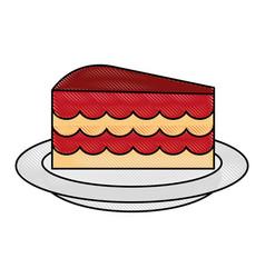 cake flat scribble vector image