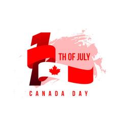 Canada day template design vector