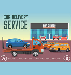 Car delivery service flat vector