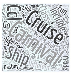 Carnival cruise line Word Cloud Concept vector