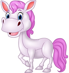 Cartoon beautiful pony horse isolated vector