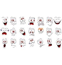 Cartoon face emotions set for you design vector