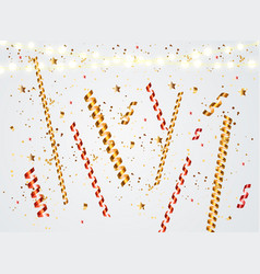 colorful naturalistic confetti with sparkles vector image