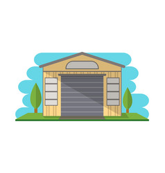 Commercial storage building isolated icon vector