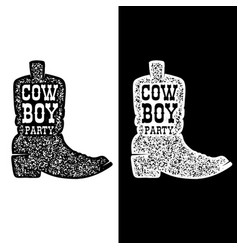 cowboy party cowboy boot isolated on white vector image