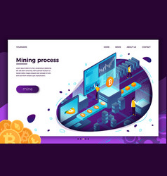 Cryptocurrency mining process transporter vector