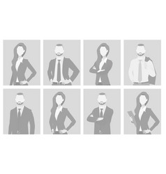 Default placeholder man and woman half-length por vector