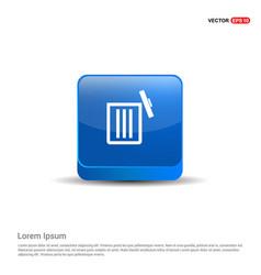 delete icon - 3d blue button vector image