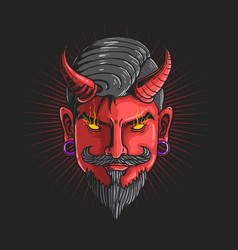 devildevil head graphic vector image