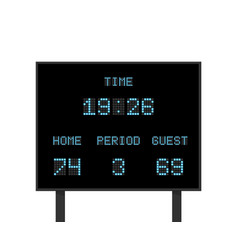Digital electronic board with football or vector