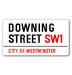 Downing street vector