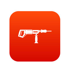 electric drill perforator icon digital red vector image