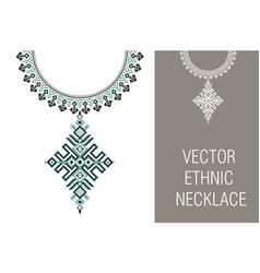 ethnic necklace embroidery for fashion vector image vector image