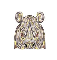 ethnic rhino vector image