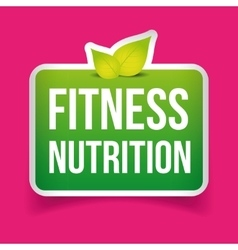 Fitness Nutrition sign vector