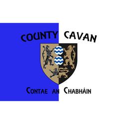 Flag county cavan in ulster ireland vector