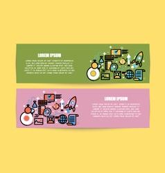 Flat line of design Modern for web design vector image