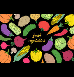 Flyer with vegetables vector