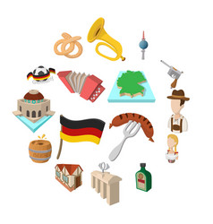 germany cartoon icons vector image