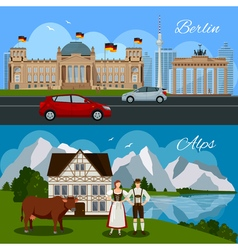 Germany flat composition vector