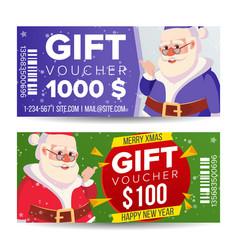 gift voucher horizontal coupon merry vector image