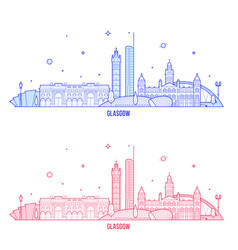 Glasgow skyline scotland uk city buildings vector