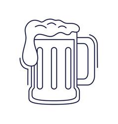 happy birthday beer glass beverage celebration vector image