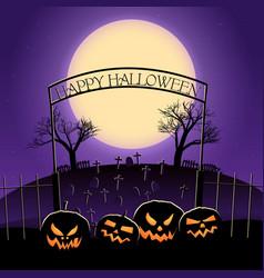 Happy halloween design with huge moon vector